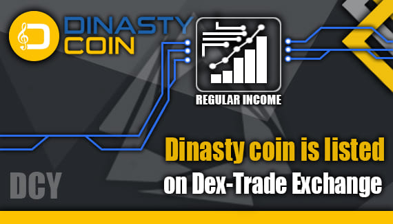 DCY is listed on Dex-Trade Exchange