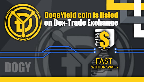 DOGY is listed on Dex-Trade Exchange