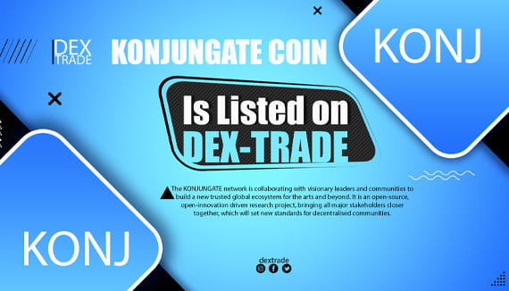 KONJ is listed on Dex-Trade Exchange