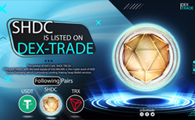 SHDC is listed on Dex-Trade