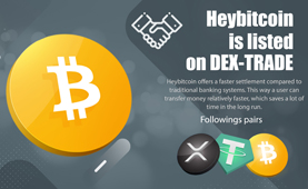 Hey-Bitcoin is listed on Dex-Trade