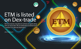 Electromcoin (ETM) is listed on Dex-Trade