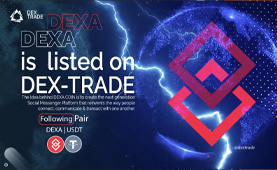 DEXA COIN IS LISTED ON DEX-TRADE