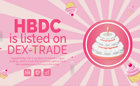 HAPPYBIRTHDAYCOIN IS LISTED ON DEX-TRADE