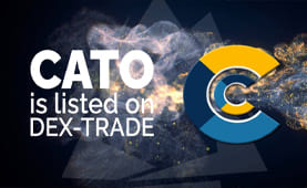 CatoCoin  IS LISTED ON DEX-TRADE