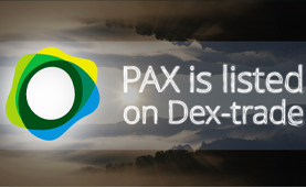 Paxos Standard (PAX) is listed on Dex-Trade
