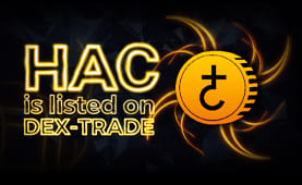 Hacash (HAC) is listed on Dex-Trade