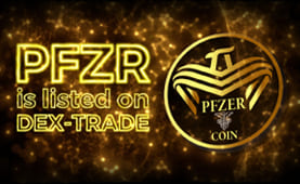 PFZER  (PFZR) is listed on Dex-Trade