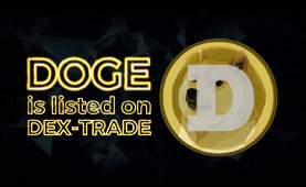 Dogecoin (DOGE) is listed on Dex-Trade