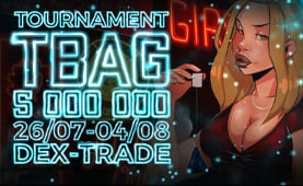 Top 3 TBAG traders will share a pool of $500 based on their TBAG trading volume