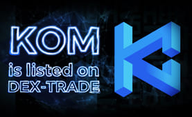 Kommunitas (KOM) is listed on Dex-Trade