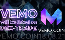 VEMO coin (VEMO) will be listed on Dex-Trade