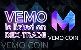 VEMO COIN (VEMO) is listed on Dex-Trade
