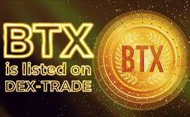 BTX (BTX) is listed on Dex-Trade