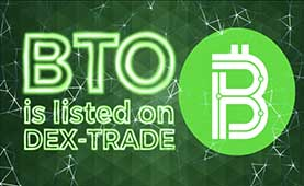 The Bitocoin (BTO) is listed on Dex-Trade