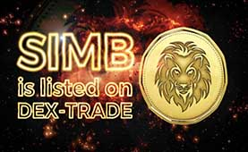 The Simba Coin (SIMB) is listed on Dex-Trade