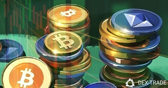 Image of cryptocurrency coins
